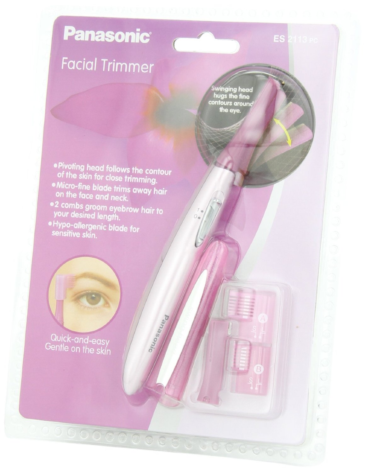 Panasonic ES2113PC Pivoting Facial Trimmer