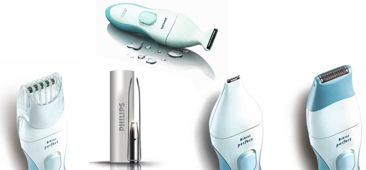 Philips HP6378 Bikini Perfect Deluxe Trimmer, Opal / Aqua
