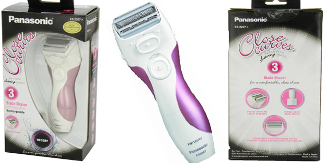 Panasonic ES2207P Ladies 3-Blade wet and dry lady shaver